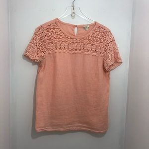 J. Crew Crochet Blouse/Shirt Size 8